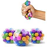 DNA stressballen, 3 stuks kleurrijke waterkralen knijpen ballen, zintuiglijke Fidget speelgoed stressballen voor angst autism