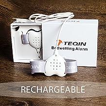 TEQIN Forma de Corazón Alarma con Todas las Funciones para Niños, Sensor de Alarma de Eneuresis de Última Generación con Sonido y Vibración, para Aprendizaje del Uso del Indodro para Niños y Niñas