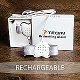 TEQIN Forma de Corazón Alarma con Todas las Funciones para Niños, Sensor de Alarma de Eneuresis de Última Generación con Sonido y Vibración, para Apre