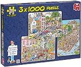 Jan van Haasteren -  3 x 1000 Piece Puzzles in a Box