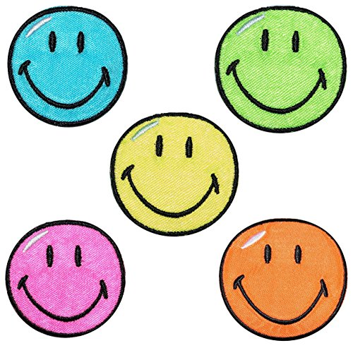 2-tlg-set-bugelbilder-smiley-bunt-55-cm-55-cm-aufnaher-gewebter-flicken-applikation-gesichter-smile-