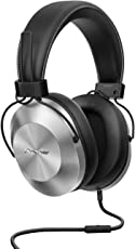 Pioneer Over-Ear Kopfhörer, SE-MS5T-S, High-Res Audio Wiedergabe, Freisprechfunktion, hoher Tragekomfort, hohe Klangqualität, für Smartphone, Tablet, Hifi Anlage, Aluminium Design, Silber, 1500275