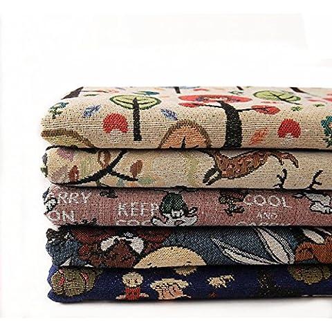KAMIERFA poliéster y algodón Craft Tela cuadrados Patchwork pelusas DIY costura y manualidades Quilting Patrón Artcraft por Yard