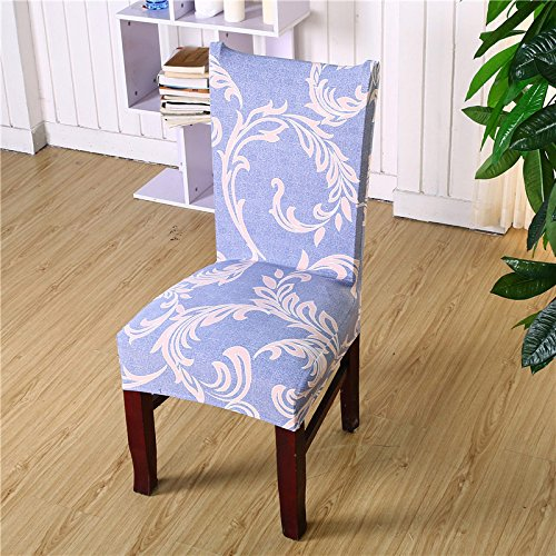 ZTDE Einfache Blätter, die schmutzabweisende Ausdehnungs-Stuhl-Abdeckungen für Hochzeits-Bankett-faltender Hotel-Stuhl-Abdeckung drucken Color 21 universal Size (Deckt Stuhl Hochzeit)