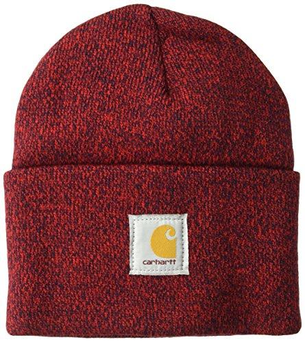 Carhartt Herren Acrylic Watch Hat Hut für kaltes Wetter, Rot/Marineblau, Einheitsgröße