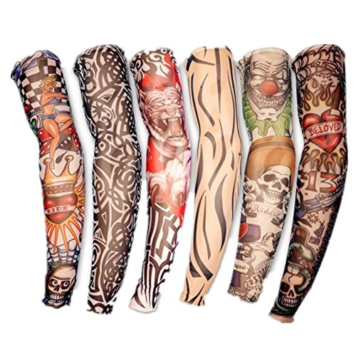 Wa 6X Rock Fake Novelty Tattoo Arms Legs Stockings Sleeves 45cm 7c4740d86