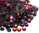 Perlin - Hotfix Strasssteine, 5760stk, Rot AB, 4mm SS16 AAA Qualität, 40 Gross, zum Aufbügeln, Hotglue, Glitzersteine Rhinestone Großhandel Glass Strass Perlen 484 x2