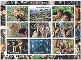 sellos para coleccionistas–cancelado a fin perforfated sello hoja con el Señor de los anillos/Elijah madera/Orlando Bloom/Ian McKellen
