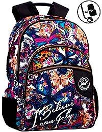 Montichelvo Double Backpack A.O. Cmp Bradford Cartable, 30 cm, (Multicolour)