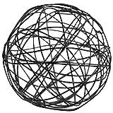 Drahtbälle 10 Stück Mix ca. 4,5 und 7 cm schwarz - Drahtkugeln Tischdeko, Dekokugeln, Tischdekoration stx.3592