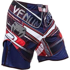 Venum Usa Hero Short d'entraînement Homme Bleu/Rouge/Ice FR : XXL (Taille Fabricant : XX-Large)