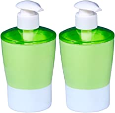 QuickShel Liquid soap Dispenser Made of BPA Free Plastic (Set of Positive Colors) (4, Assorted)