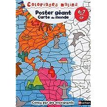 Poster géant, carte du monde : 6-7 ans, CP