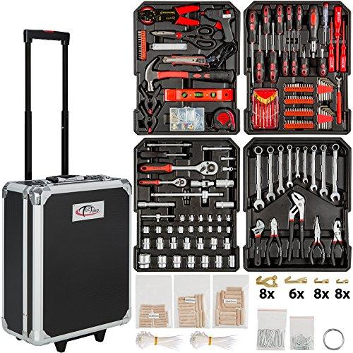 TecTake 401321- Set de herramientas, en maletín carrito portaherramientas...