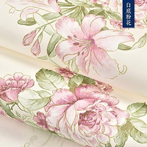 Yifom Sfondo idilliaco bedroom luxury Pearlescent sfondo non tessuto 3D anaglifo soggiorno wallpaper,1