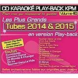 """CD Karaoké Play-Back KPM Vol.40 """"Tubes 2014 & 2015"""""""