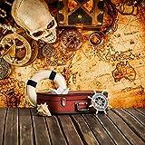 Vintage Schatzkarte Wandbild Pirat Foto-Tapete Jungen Schlafzimmer Haus Dekor Erhältlich in 8 Größen Extraklein Digital