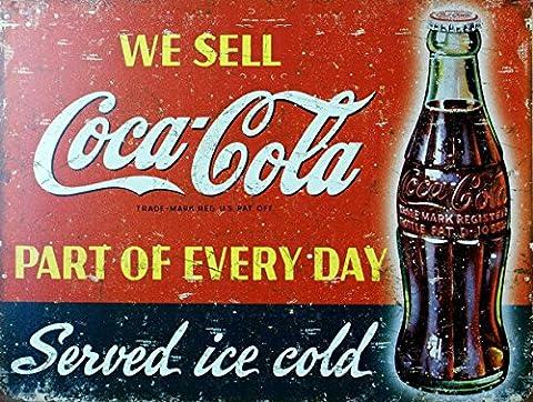 Coca Cola Sign rétro Boîte en métal de style vintage plaque murale fantaisie Cadeau