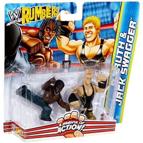 WWE Rumblers R-Truth and Jack Swagger Figure 2-Pack by Mattel