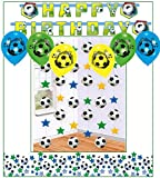 Libetui Kinder Geburtstag Dekoration Fußball Soccer Happy Birthday Deko Partykette Girlande Banner Konfetti Fussball für Party Oder Kindergeburtstag