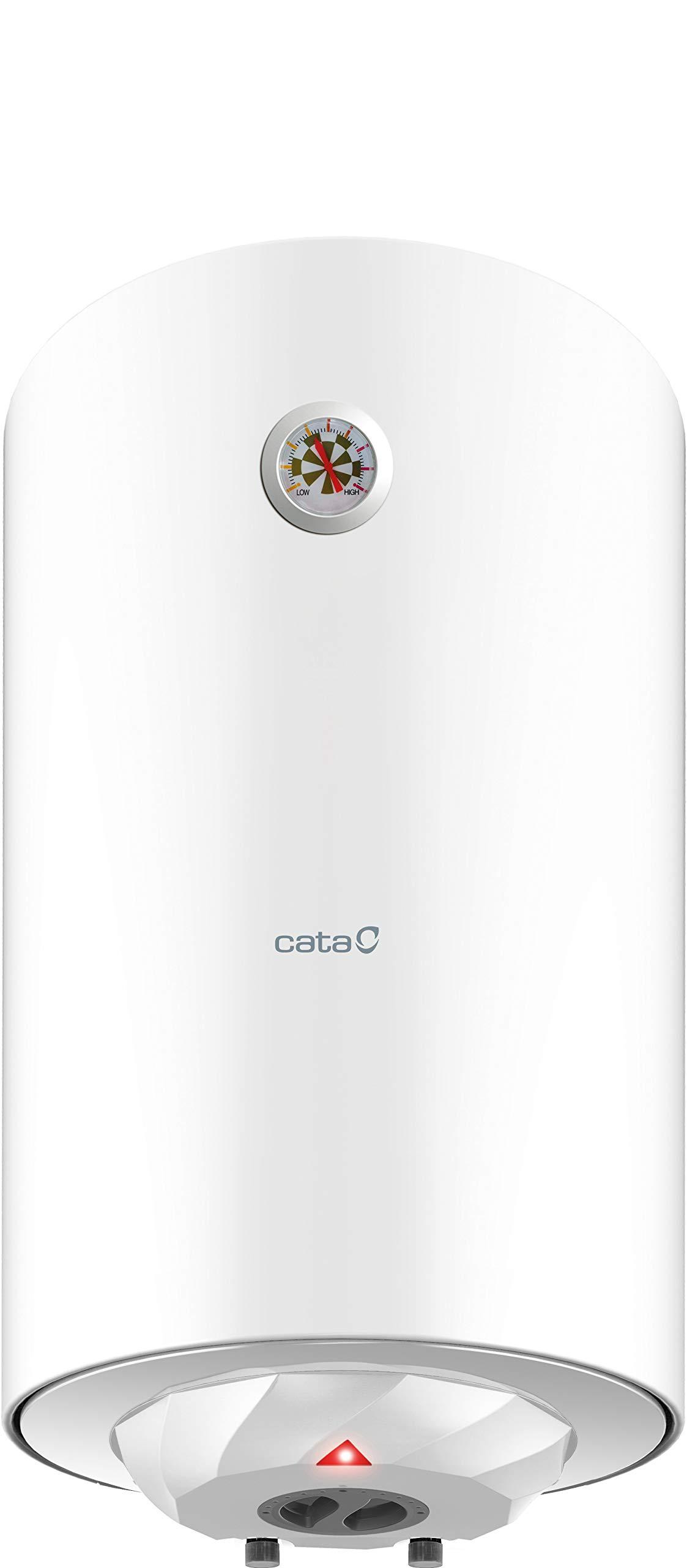 Cata   Termo eléctrico 80 L   Calentador de agua modelo CTR-80-M   Instalación vertical   Tanque esmaltado al titanio…