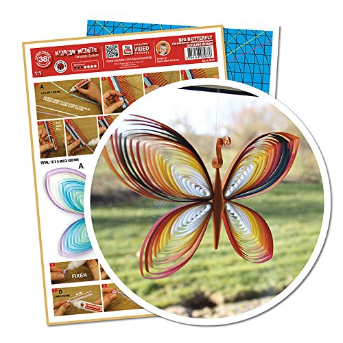 Quilling Template Big Butterfly (ohne Pappe) (Template Quilling)