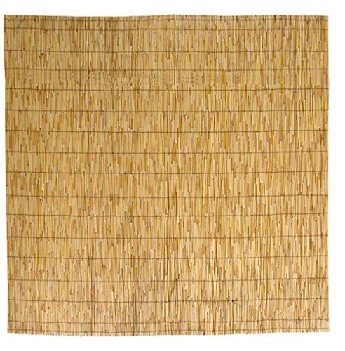 Savino Fiorenzo Arella Arelle in Rute Bambus Strohmatte Sonnenschutznetz cm 150x 300cm 1,5x 3m für Abdeckung Zaun Garten Geländer Balkon in Bamboo