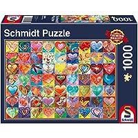 Schmidt Spiele 58295 - Herz an Herz, Puzzle, 1000 teile