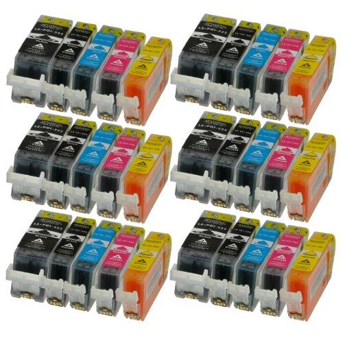 30 Patronen MIT CHIP und Füllstandanzeige für Canon Pixma iP4850, MG5150, MG5250, MG6150, MG8150 kompatibel zu PGI-525BK, CLI-526C, CLI-526M, CLI-526Y und CLI-526BK.