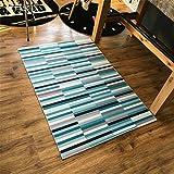 Wohnzimmer Dekor Teppich Bodenmatte Europäischen Einfachen Stil Bunte Gestreiften 3D Druck Farbigen Streifen Rechteckigen Teppich Kinder Klettern Teppich Schlafzimmer rutschfeste Teppich Teppich Teppiche