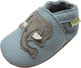 Sayoyo Netter Elefant WeichesLeder Lauflernschuhe Krabbelschuhe Babyschuhe