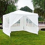 Festzelt Partyzelt Gartenzelt Pavillon Bierzelt (3×3 mit 4 Seitenteilen)