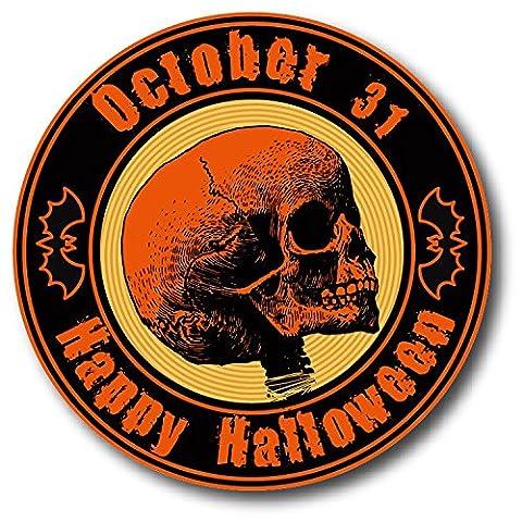 Qualité Halloween - Happy Halloween Skull Grunge Stamp De Haute