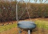 Massiver Grillrostbaum mit Grill und Kette für Schale G2294, Grillaufsatz