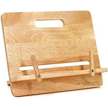 Fancyus Wooden Adjustable Stand for Cookbook or books