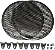 """SummerHome 2Pcs 12"""" Black Audio Subwoofer Speaker Circle Cover Grill Mesh Protect"""
