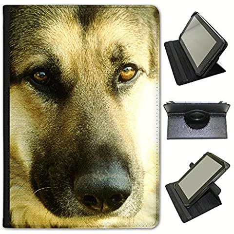Close Up Face Of A German Shepherd Dog Universal Faux Leather Case Cover / Folio for the Samsung Galaxy Tab S3 9.7 inch
