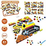 420 Pieces, 6 In 1 Engineering Theme Building Set, 420 Pieces Kids DIY Engineering Excavator, Truck Crane, Concrete Mixer Building Blocks Set, Fine Motor, Room Dcor, Gifts For Kids 4 Years And Up