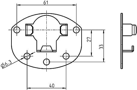 Rademacher 4022 Anschraublager f/ür Rohrmotor 4000