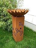 Garteninspiration Feuerschale 60cm mit Säule