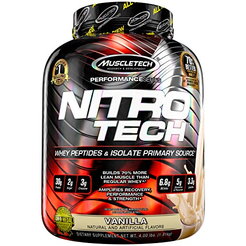 Muscletech Nitro-Tech Performance Series - Vanilla, 1er Pack (1 x 1.8 kg)