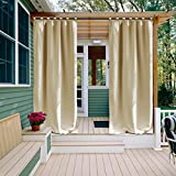 NICETOWN Patio Darkening Outdoor Curtain 108 Home Fashion Thermal Insulated Tab Top Room