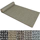 Teppich Läufer Carlton | Flachgewebe dezent gemustert | Teppichläufer in vielen Größen | als Küchenläufer, Flurläufer | mit Stufenmatten kombinierbar (Beige - 80x250 cm)