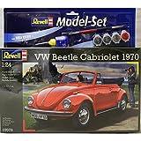 Revell Modellbausatz Auto 1:24 - Volkswagen VW Käfer Cabriolet 1970 (VW Beetle) im Maßstab 1:24, Level 4, originalgetreue Nachbildung mit vielen Details, Model Set mit Basiszubehör, 67078