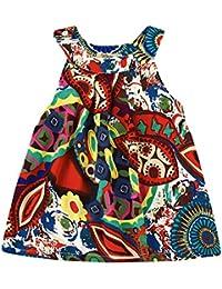 Covermason Bebé Niñas Sin Mangas Multicolor Impresión Vestidos