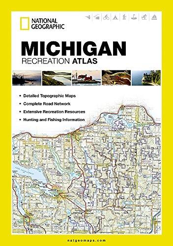 Michigan Recreation Atlas (National Geographic) (Karte Von Michigan)