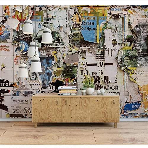 HONGYAUNZHANG Europäische Und Amerikanische Nostalgische Muster Wallpaper Custom Photo Wall Paper Wandbild 3D Mediterranen Sternenhimmel Landschaft Wall Covering,320Cm (H) X 400Cm (W)