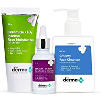 The Derma Co Glowing & Hydrated Skin Combo - 30% AHA + 2% BHA Face Peeling Solution (30 ml) + Creamy Face Cleanser (100…