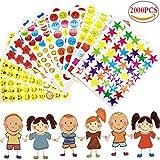 Liuer 2000PCS Stickers Bambini Scrapbooking Accessori per Scuola Gli Insegnanti Bambini Confezione Adesivi d'Incoraggiamento di Ricompensa per Calendario Planner Planning Taccuino Decorazione,6 Stile