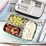 Lunch boxin acciaio inox 304 lunch box isolante tinta unita pranzo fresco box può essere riempito con acqua resistente lunch box blu 26,5x19,3x6cm